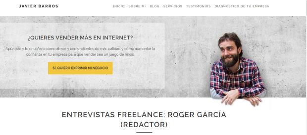 entrevista roger garcia redactor freelance javier barros
