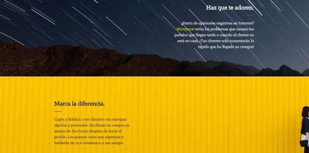 Captura escribir textos pagina web startup