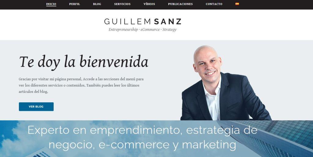 web de marca personal guillem sanz